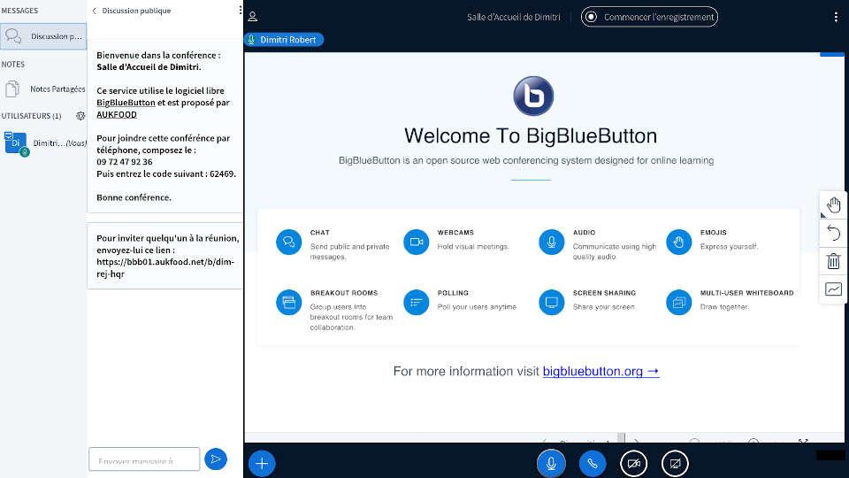 Documentation BigBlueButton